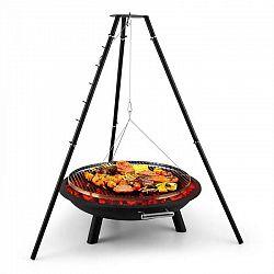 Blumfeldt Arco Trino, otočný gril, ohnisko, BBQ, trojnožka, nerezová oceľ