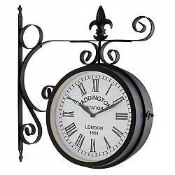 Blumfeldt Paddington, nástenné hodiny, staničné hodiny, záhradné hodiny, 41 x 45 x 11 cm, vintage