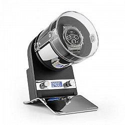 Klarstein Montreaux, naťahovač na hodinky, pohyblivý stojan, batéria/el. sieť, 650 - 300 ot./deň, čierny