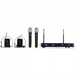 Bezdrôtový mikrofónový set Malone UHF-550 Quartett3